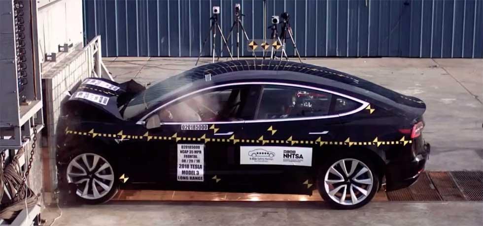 NHTSA Tesla Model 3 crash test videos will make you wince