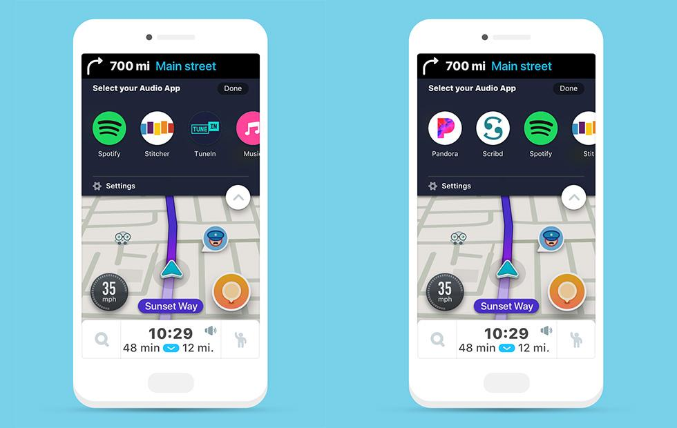 Waze Audio Player beta arrives with Pandora, Spotify, Stitcher and more