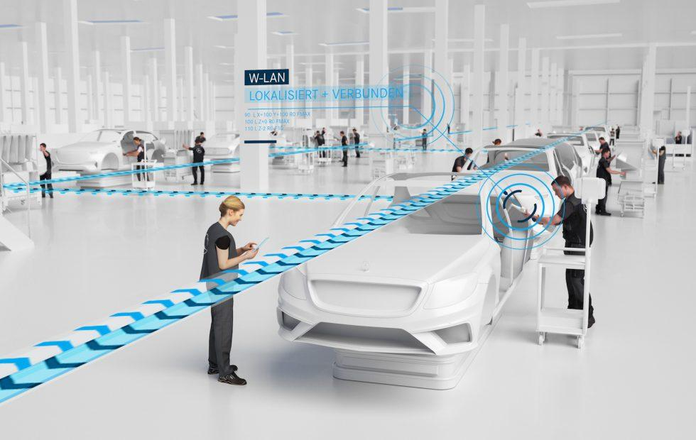 Mercedes reveals the 5G robot-filled factory for its most high-tech cars