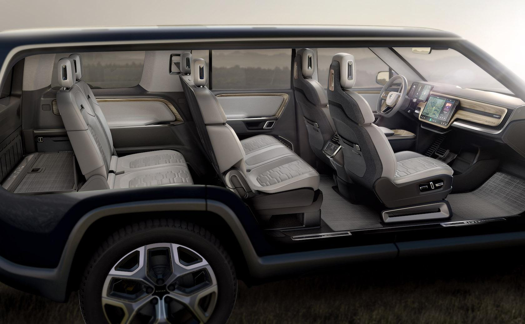 7 Seater Vehicles >> Rivian R1s 7 Seat Electric Suv Pairs Self Driving And 410 Mile Range