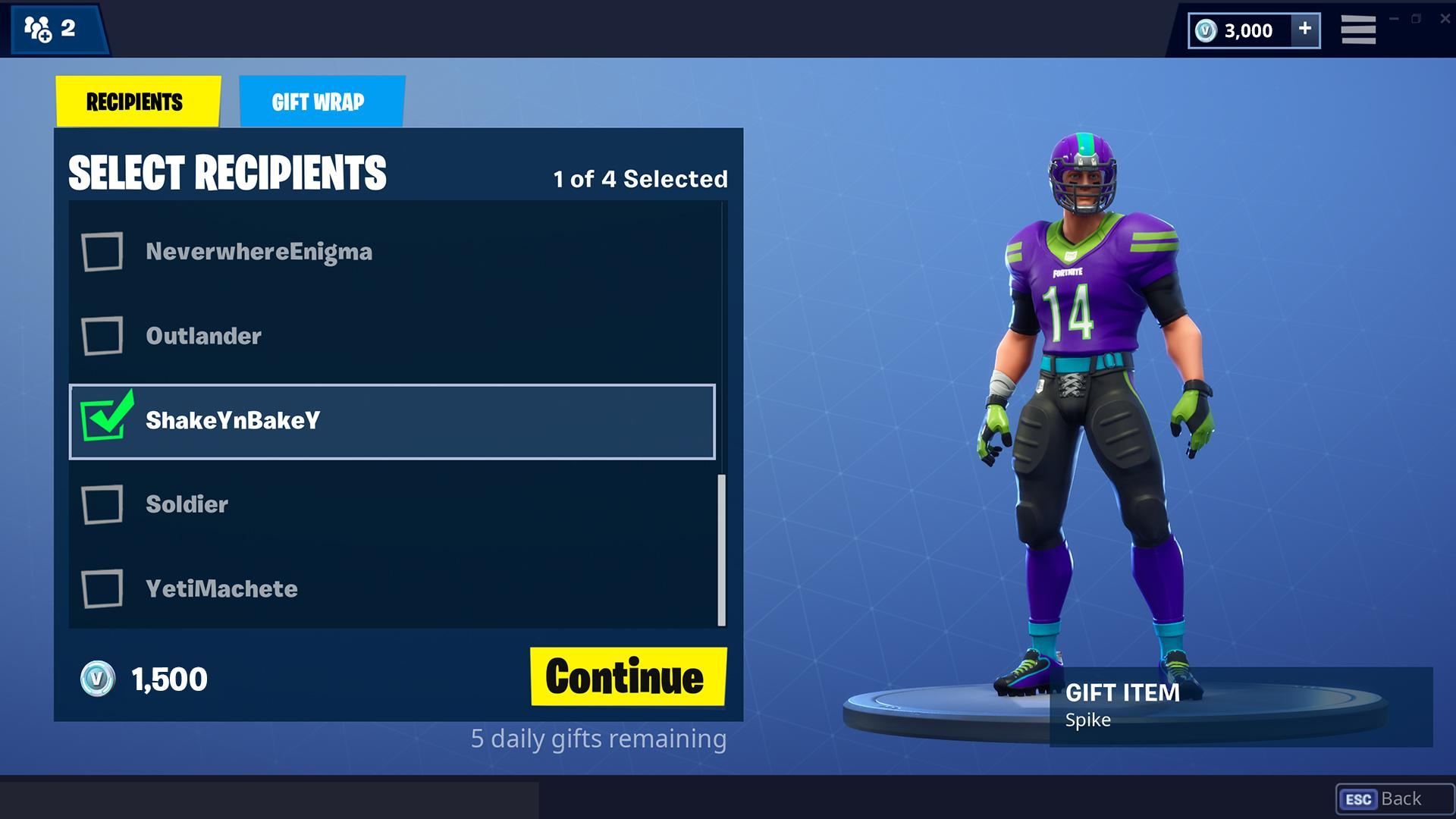 fortnite how to gift standard edition pc