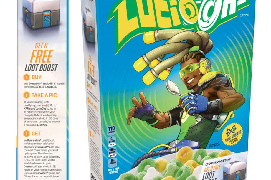 Overwatch's Lucio gets his own real-world cereal with loot bonus