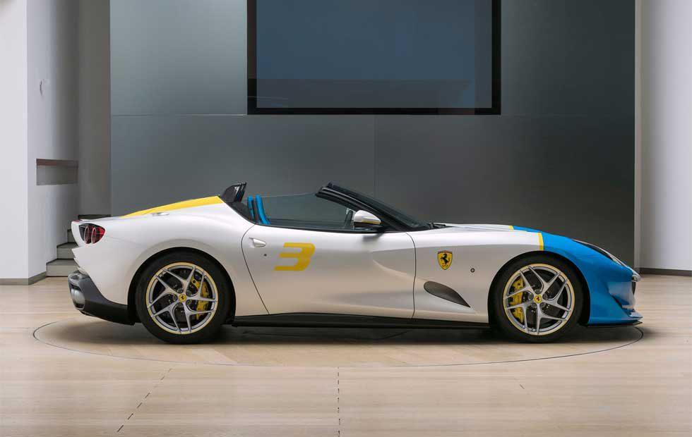 Ferrari SP3JC is a one-of-a-kind V12 drop top that is part F12tdf