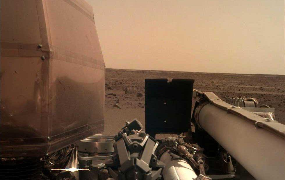 InSight shares the first pic of its Martian surroundings