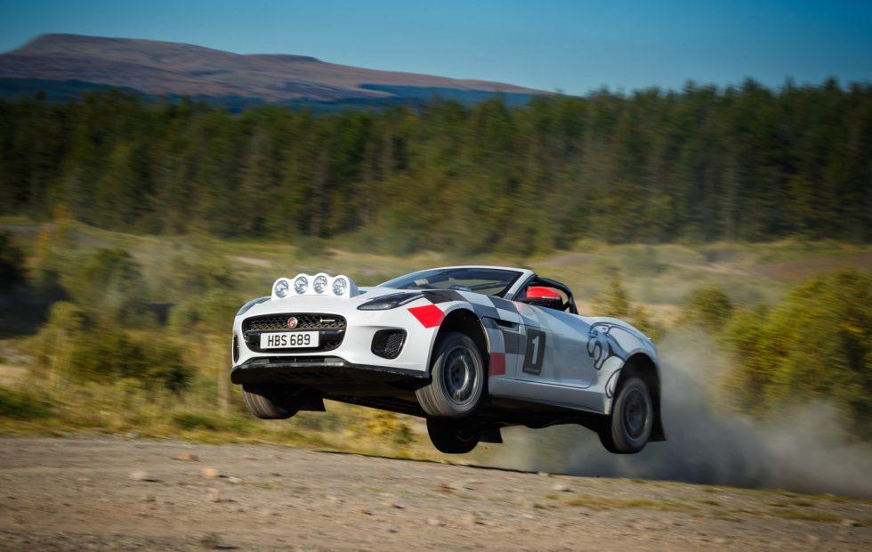 This incredible Jaguar F-Type rally car leaps like a big cat
