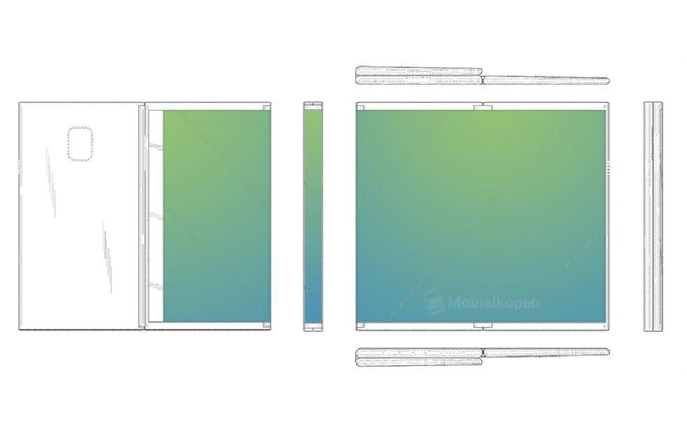 Samsung foldable tablet patent folds in three parts