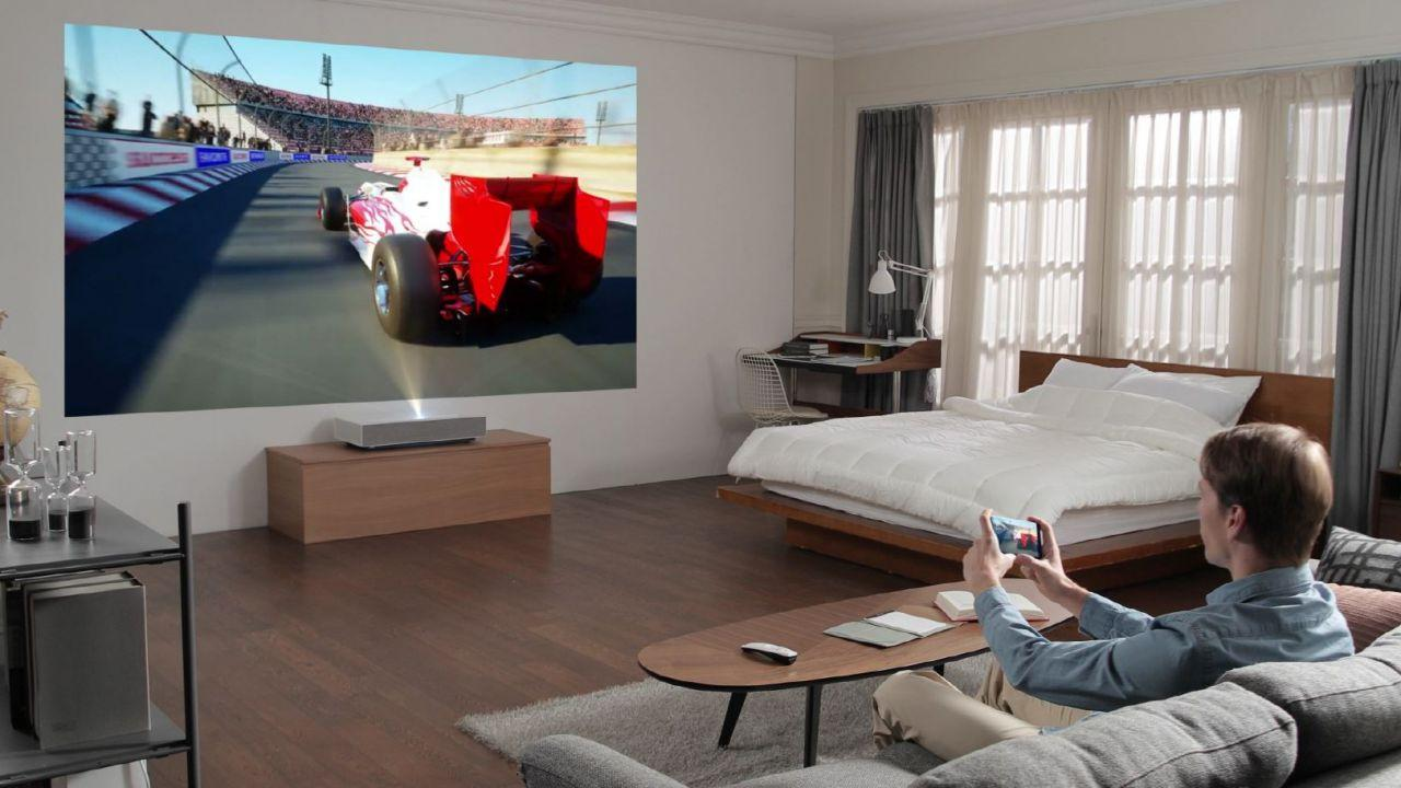 LG CineBeam 4K projector works with just a few inches of space