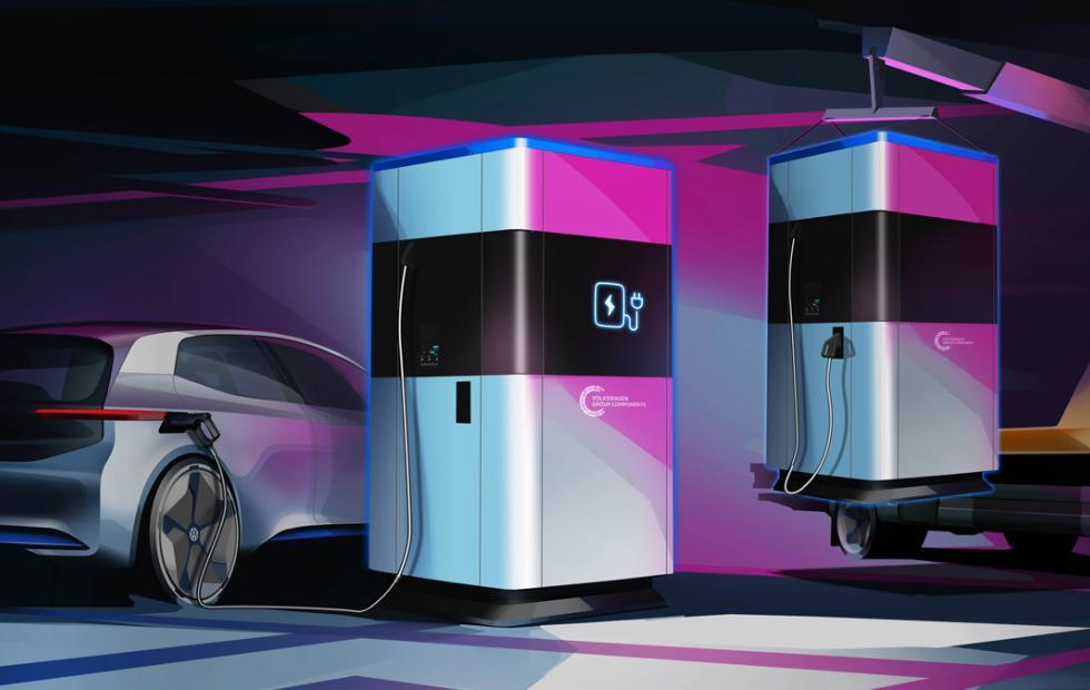 Volkswagen mobile charging station is a 360 kWh power bank for e-cars