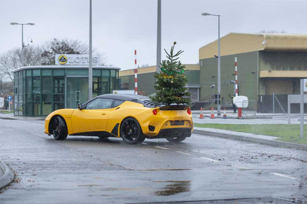 Lotus wishes you a Merry Driftmas with sideways Evora fun