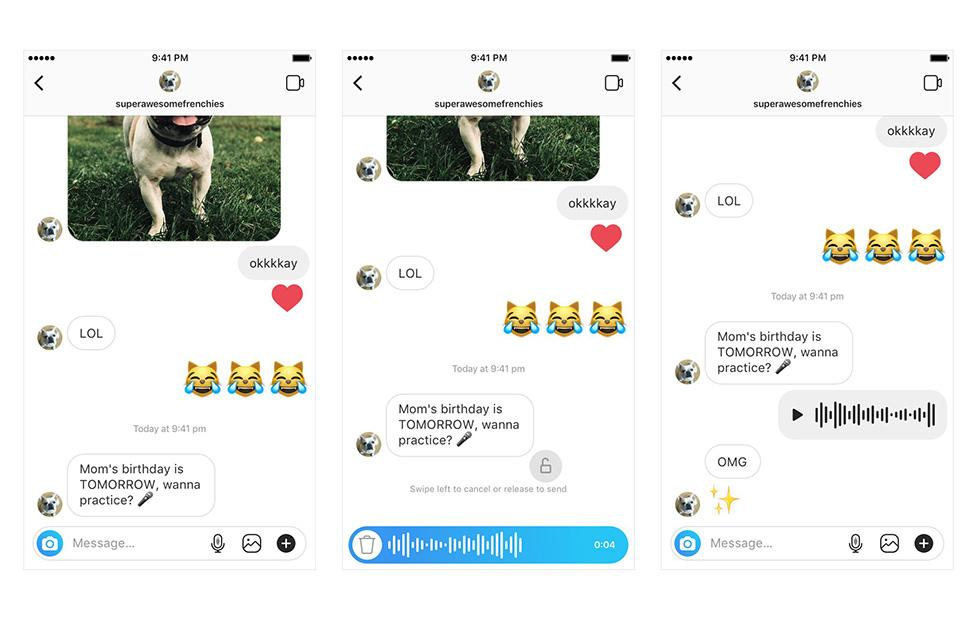 Instagram rolls out direct short voice messaging option for all users
