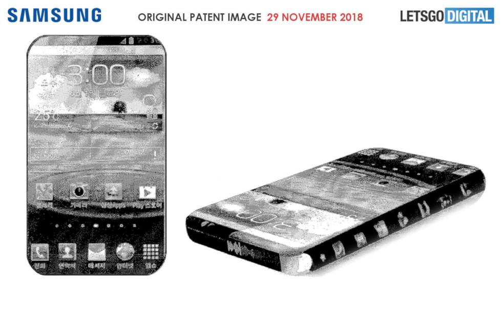 Samsung patents a phone with displays on almost all sides