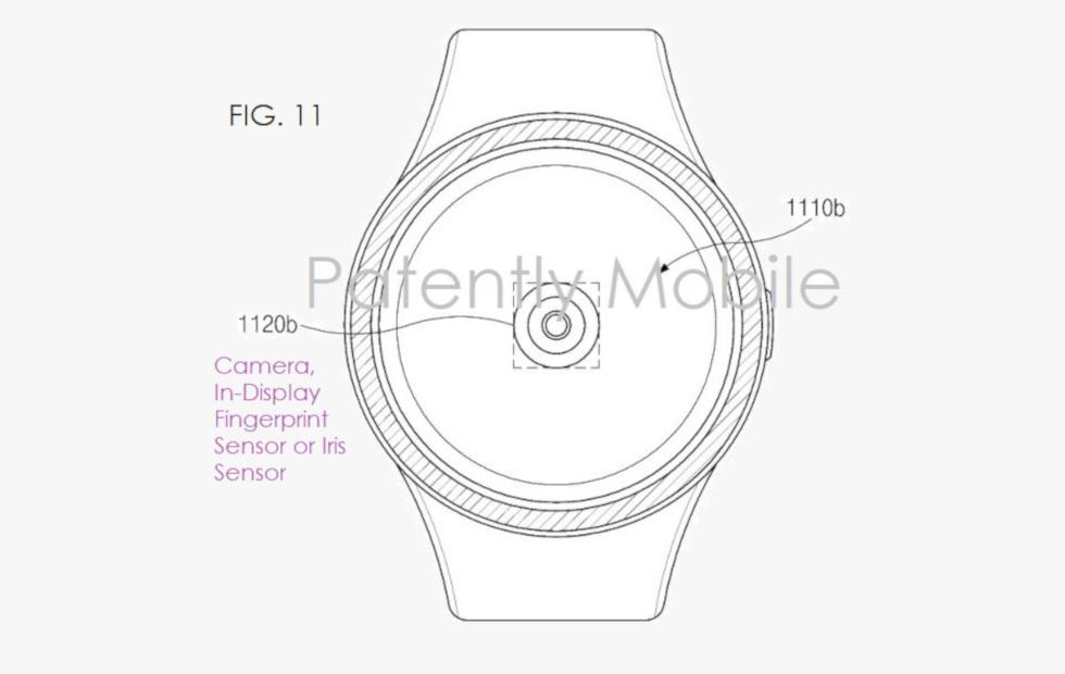 Samsung smartwatch patent uses in-display fingerprint sensor