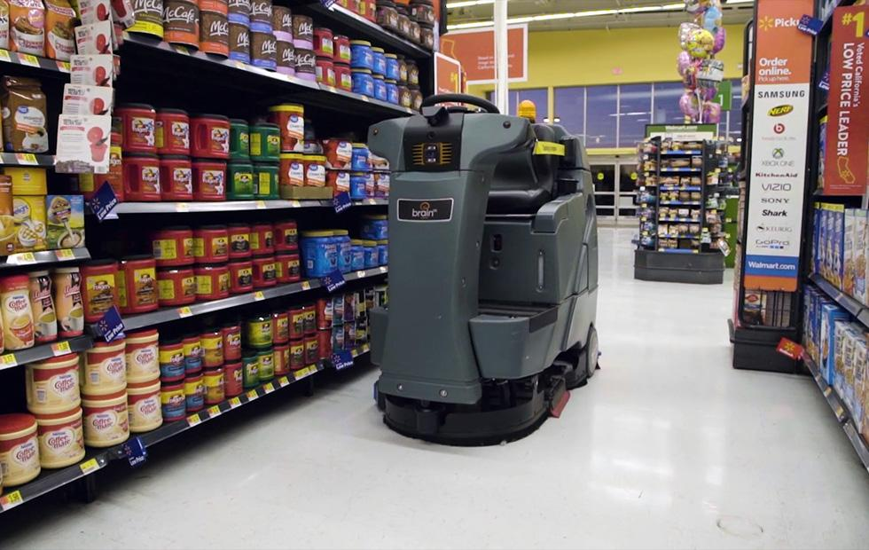 Walmart taps autonomous robots with BrainOS to clean its floors