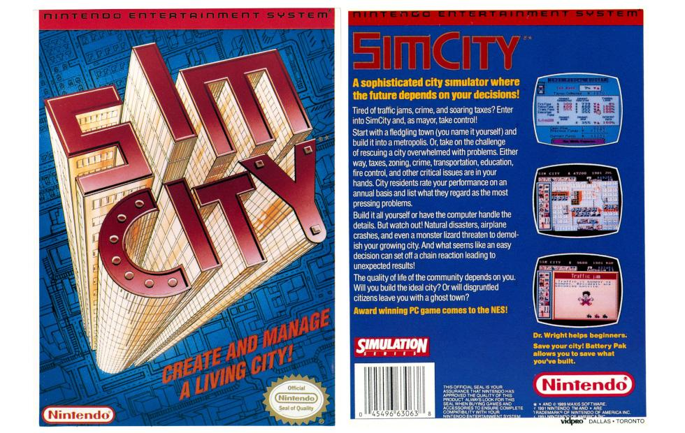 SimCity NES prototype reappears after nearly three decades