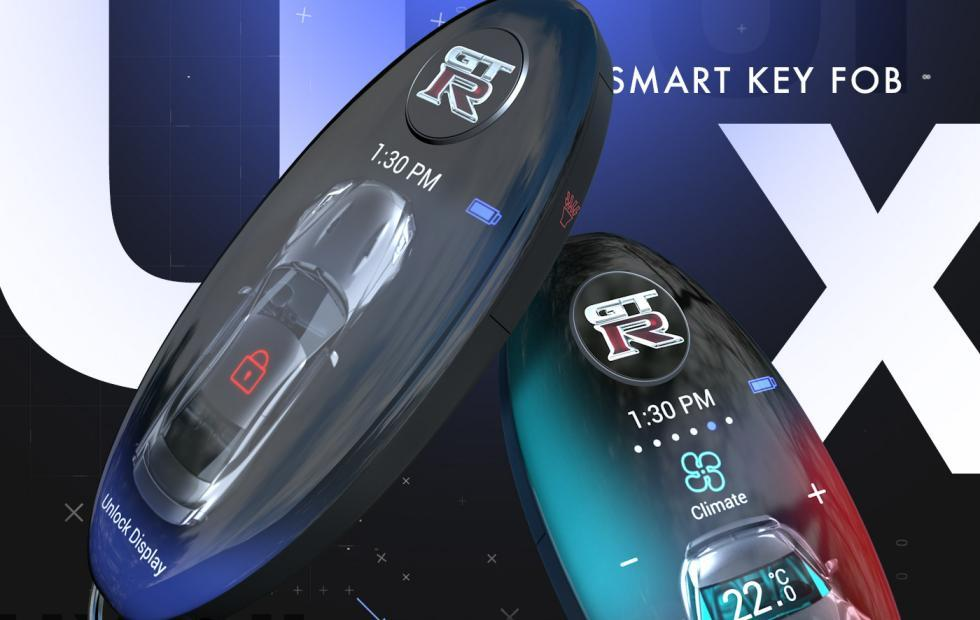 Nissan GT-R smart key fob concept reverses the smartphone trend