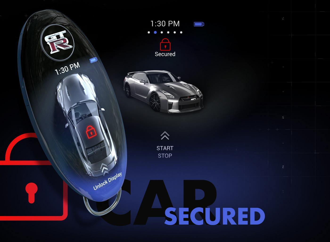 Nissan GT-R smart key fob concept reverses the smartphone