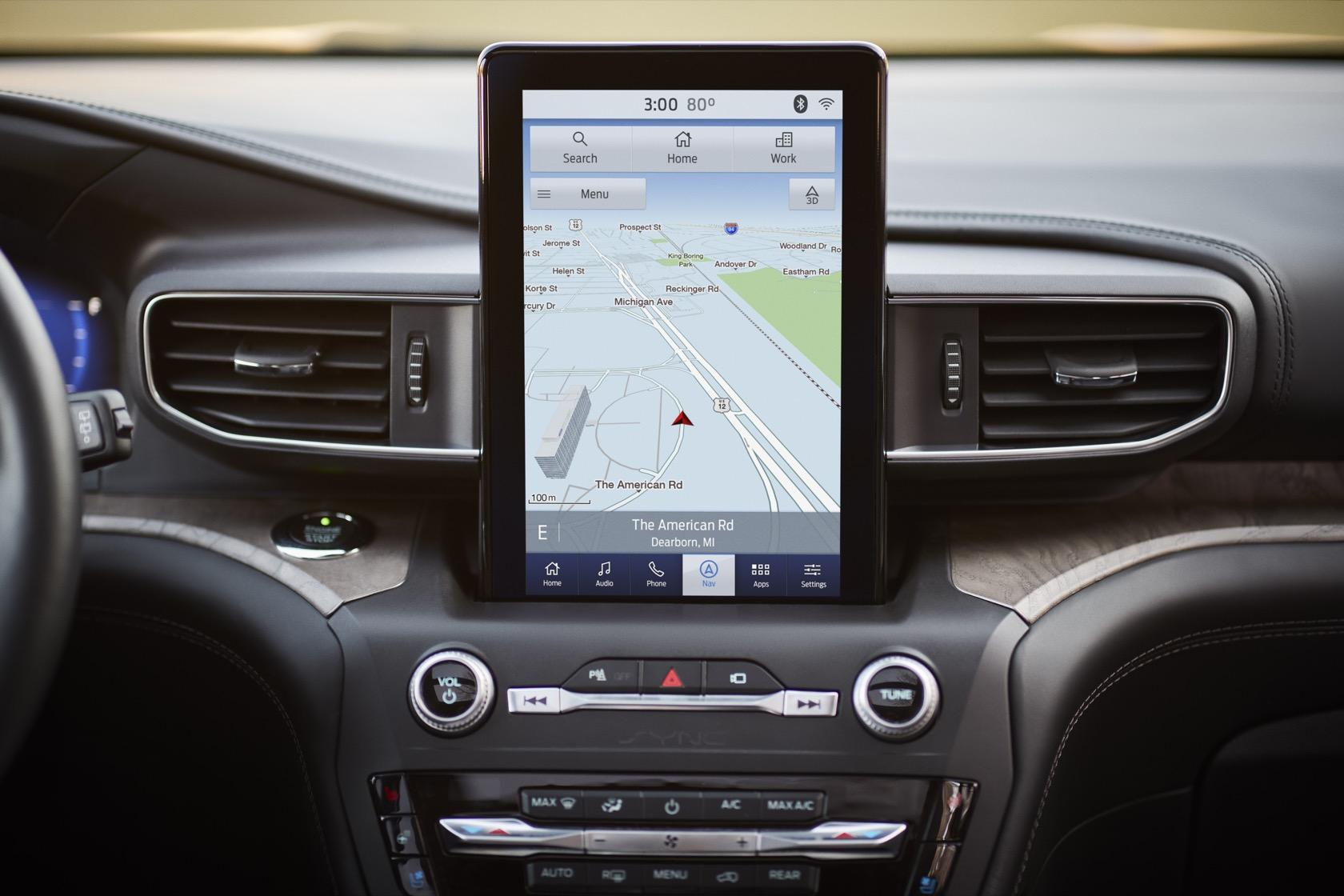 We can't stop staring at the 2020 Ford Explorer's weird touchscreen