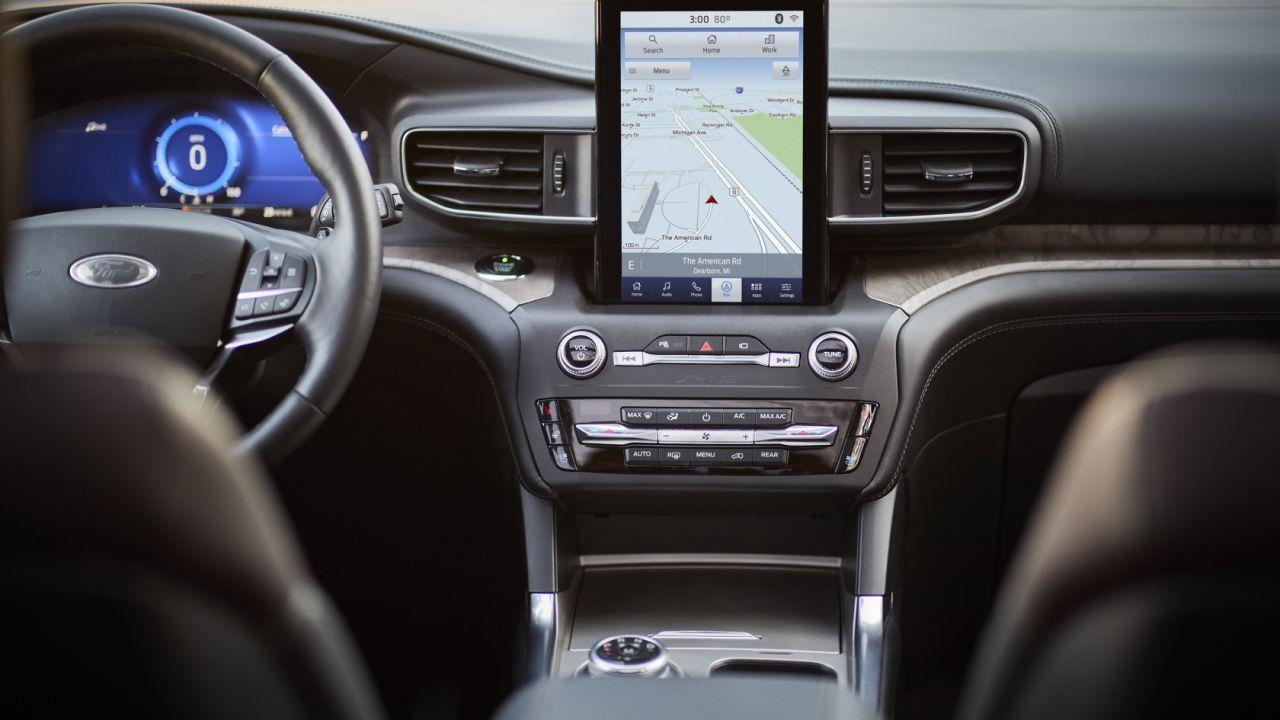 We Can T Stop Staring At The 2020 Ford Explorer S Weird Touchscreen