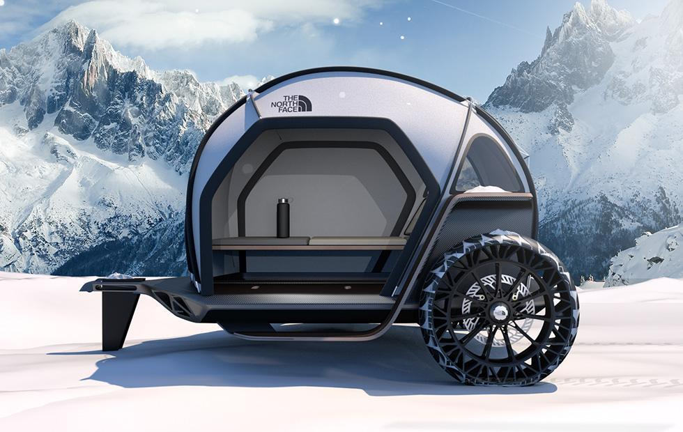 BMW and The North Face reveal camper concept with advanced fabric shell
