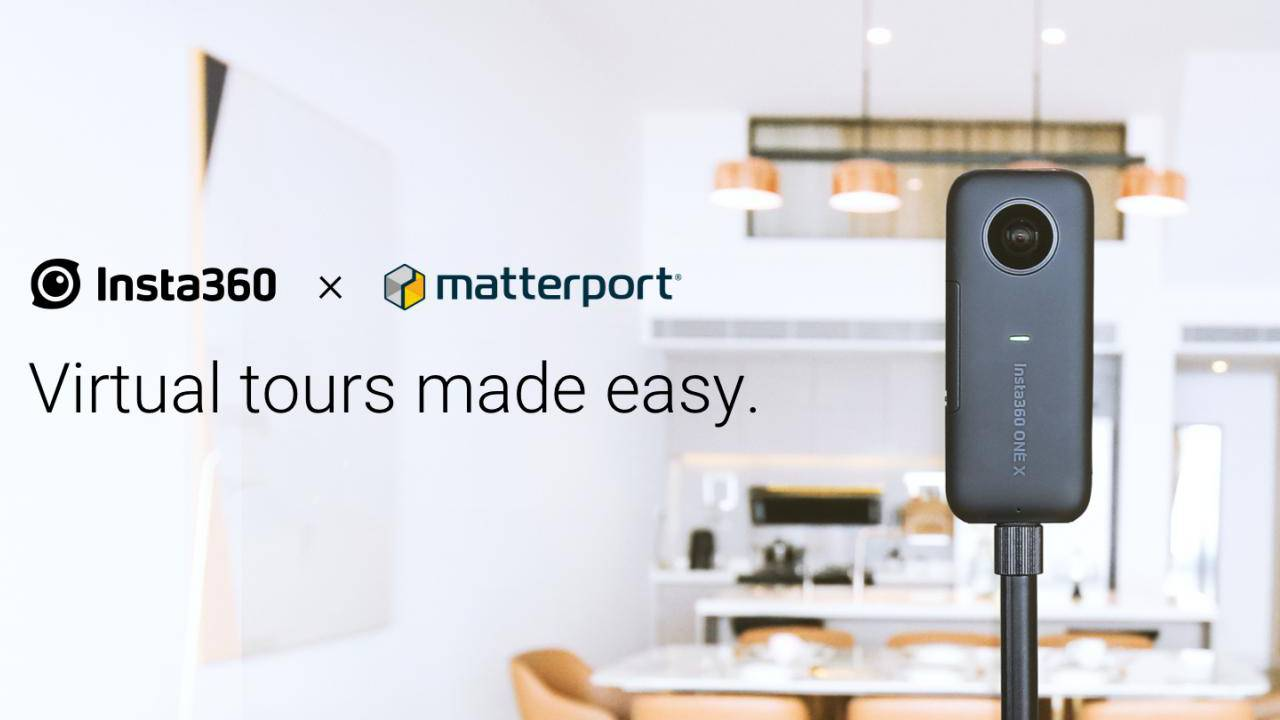 Insta360 ONE X Matterport integration makes virtual tour creation easy as pie
