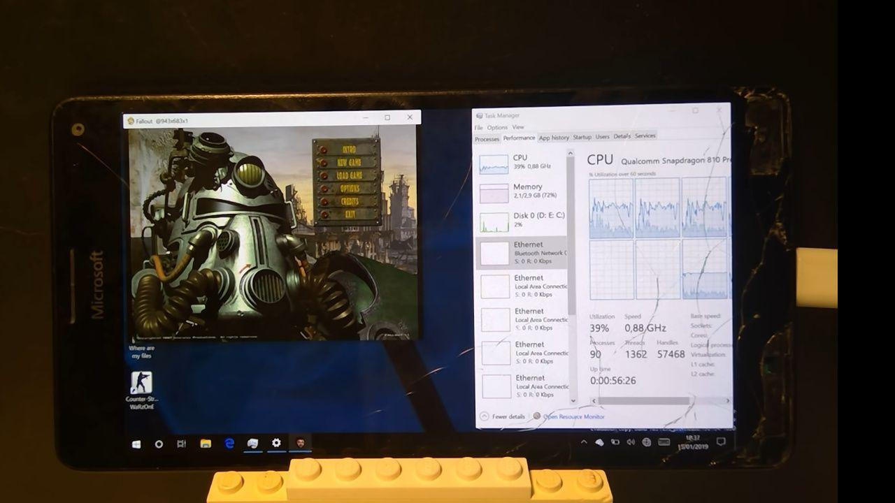 Lumia 950 XL runs Windows on ARM, original Fallout game