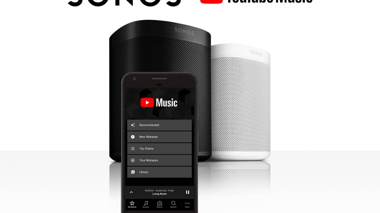YouTube Music arrives on your Sonos speakers today