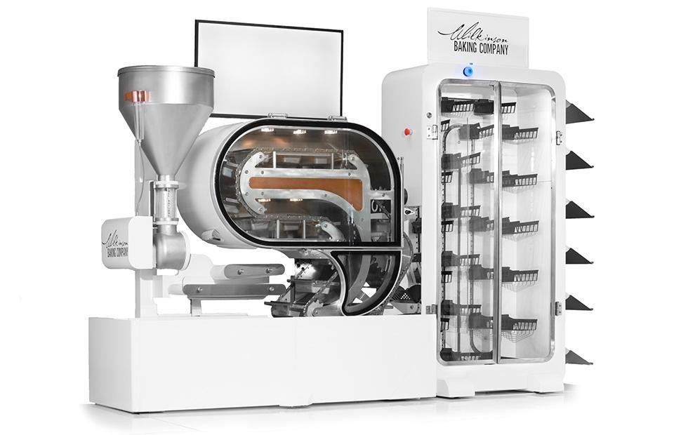Breadbot is a mini bakery that makes 10 loaves of bread every hour