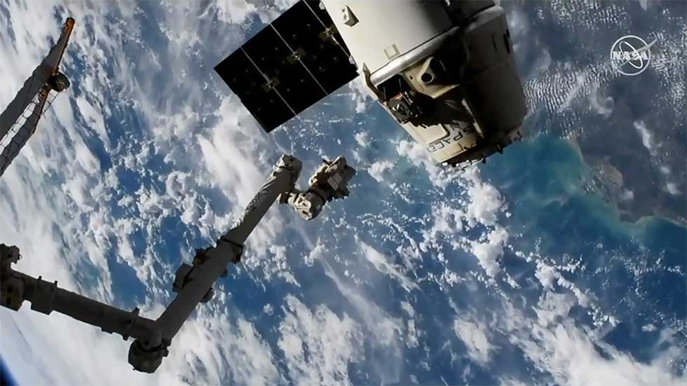SpaceX Dragon cargo ship departs ISS packing scientific cargo