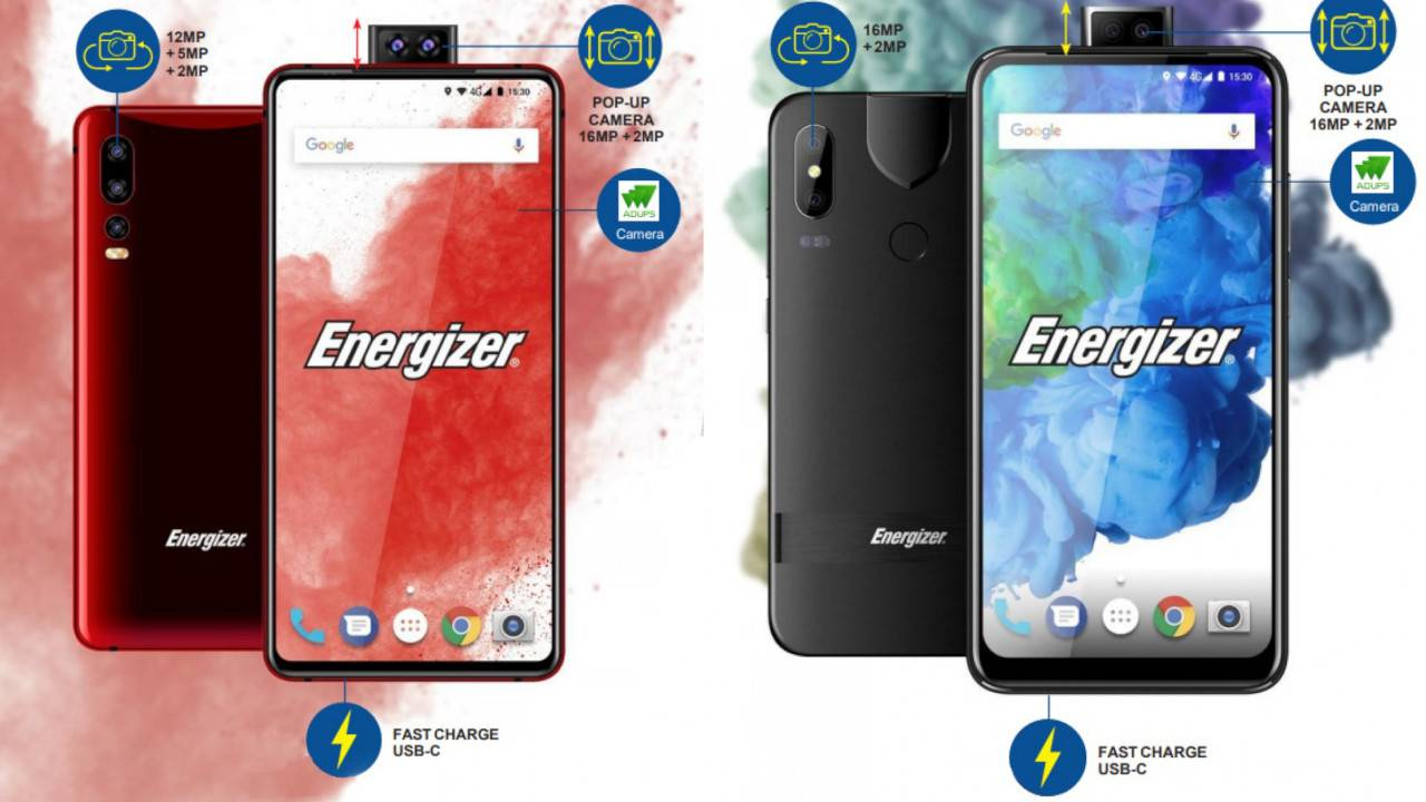 Energizer phones with popup selfie cameras coming at MWC 2019