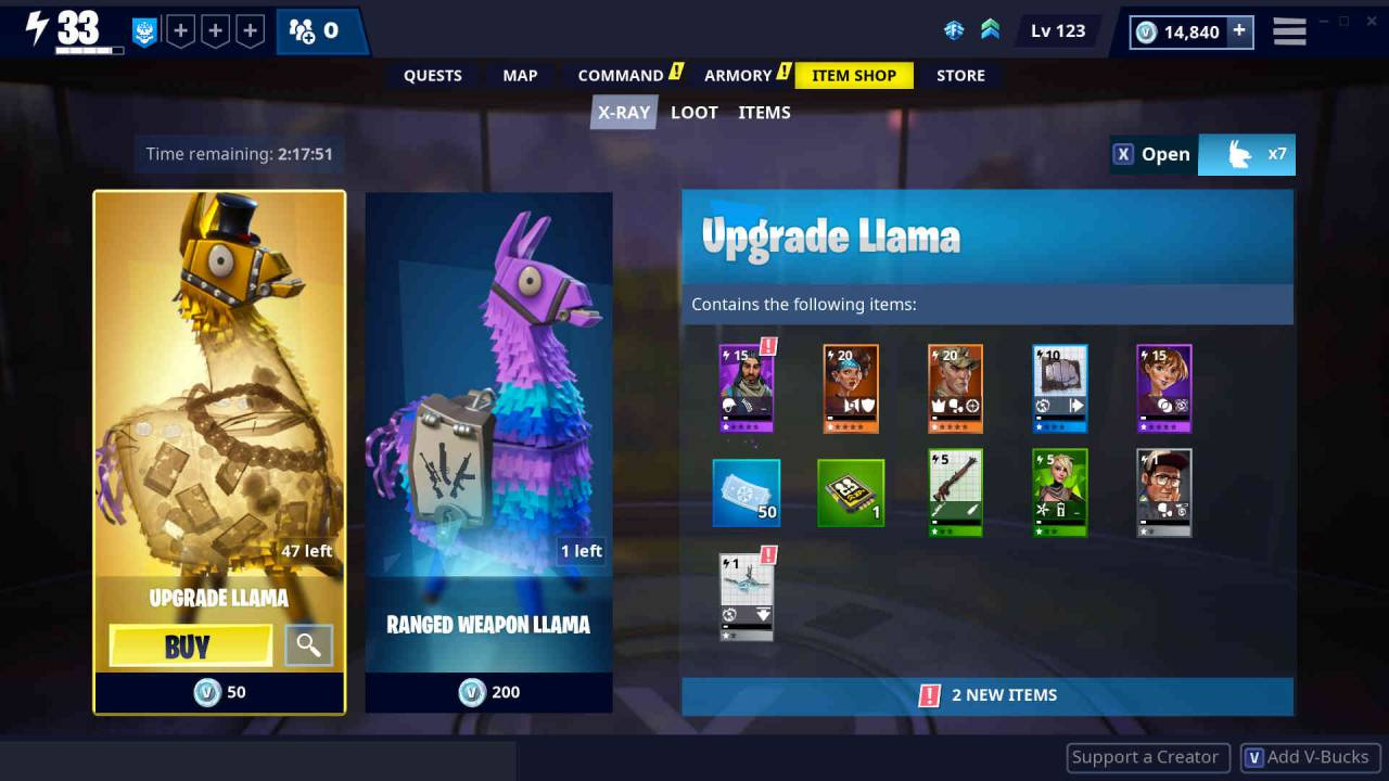 Fortnite Save the World loot boxes will be transparent in v7.30