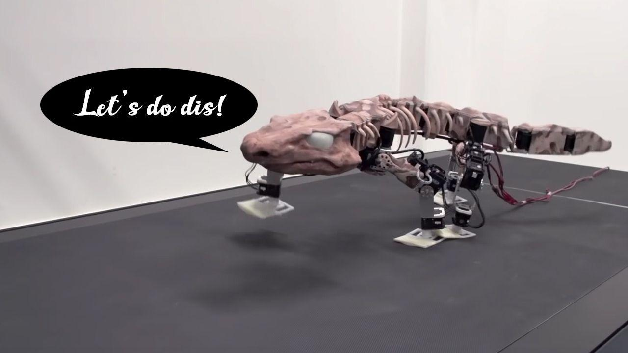 Robotics help 290-million-year-old fossil walk again