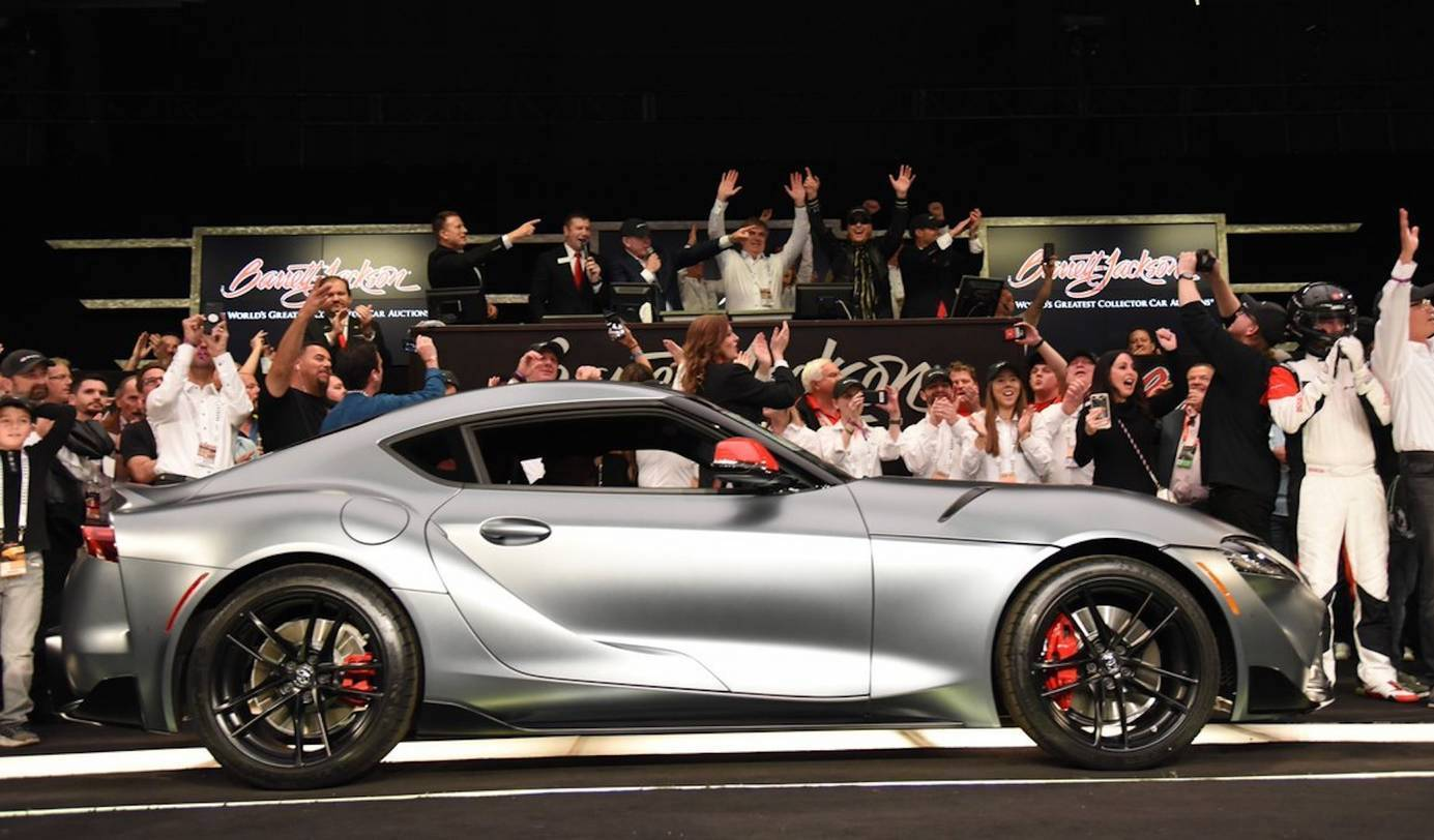 Very First 2020 Toyota Supra Already Sold For Over 2m Slashgear