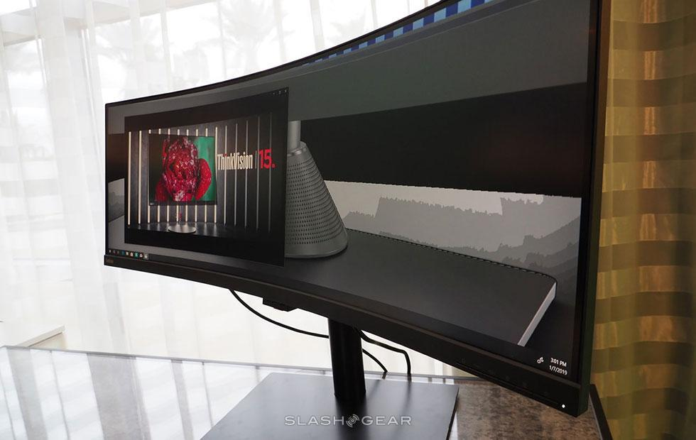 Lenovo ThinkVision P44W Monitor hands-on: Multi-display replacement
