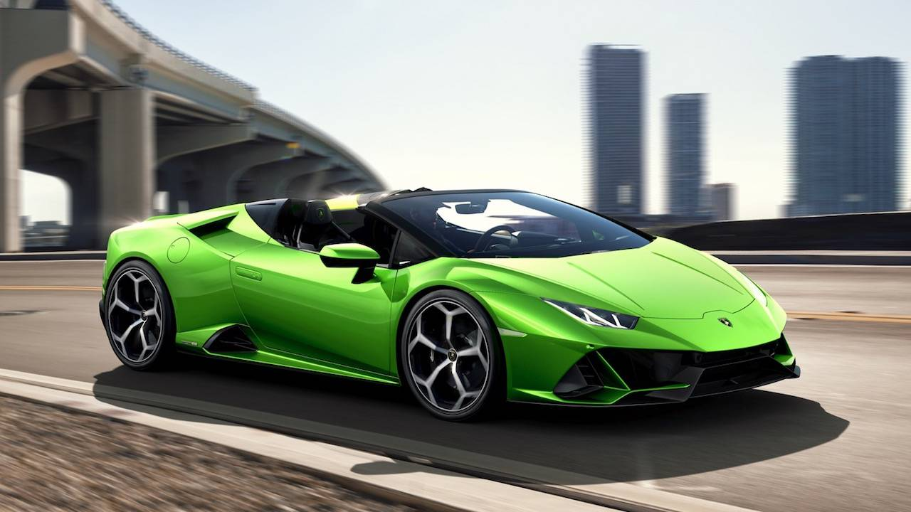 Lamborghini Huracan EVO Spyder loses roof but not the 640hp V10