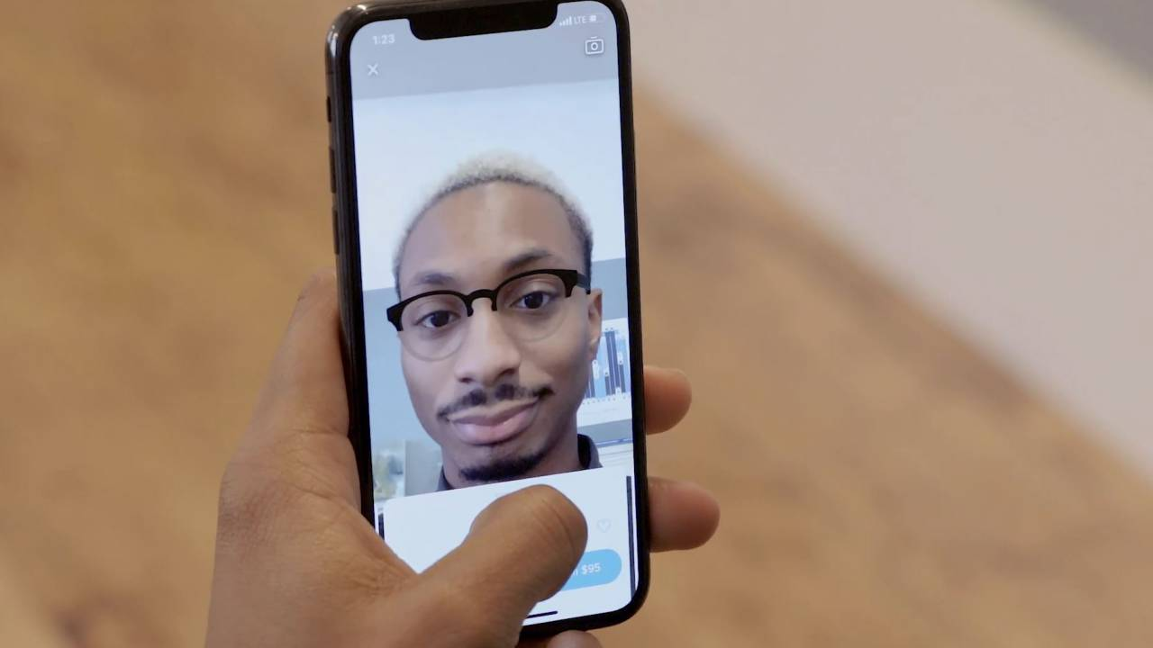 Warby Parker's iPhone app uses ARKit to let you virtually try on glasses