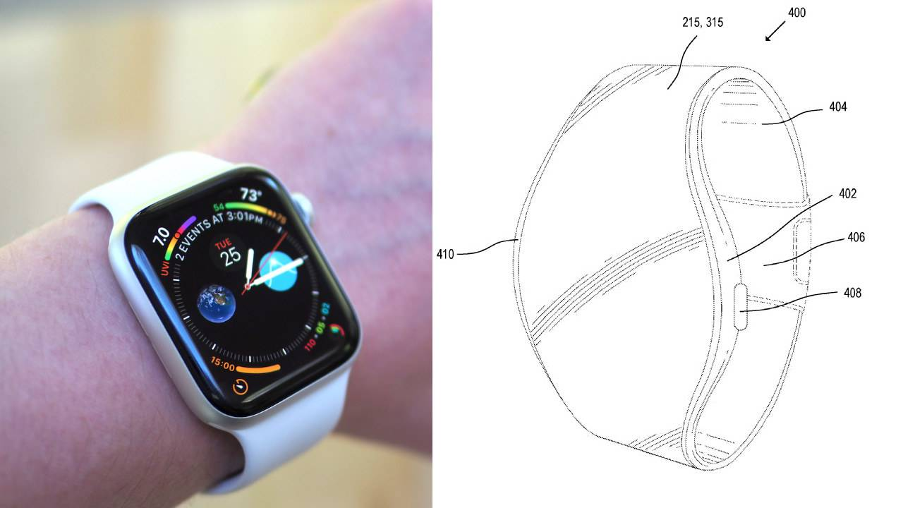 Apple Watch with flexible display strap teased in MicroLED patent