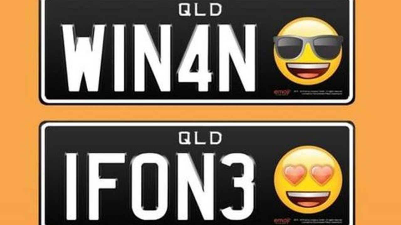Aussies can get emoji license plates