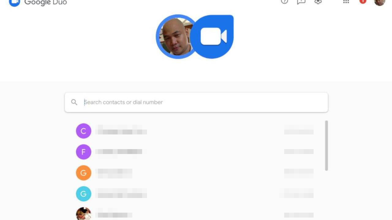 Google Duo is now on the Web