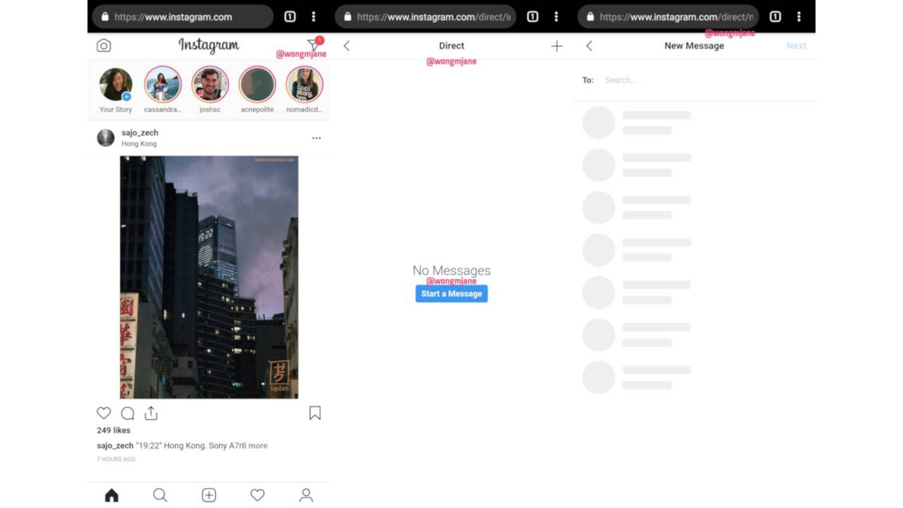 Instagram Direct Messages could be coming to desktop, web soon