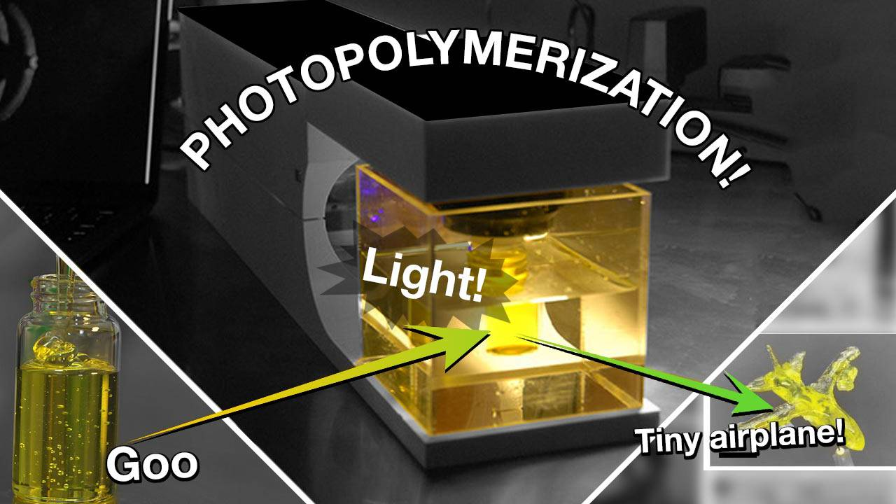 This CAL 3D printer uses photosensitive liquid and beams of light