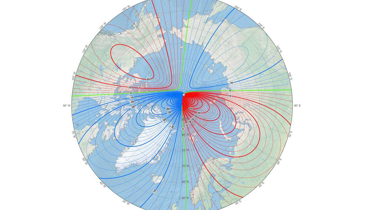 Unexpected magnetic north pole changes mean new world magnetic model on