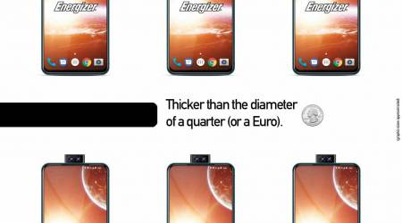 Energizer phone has battery that's 7x that of an iPhone