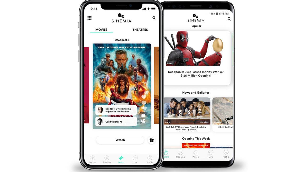 Sinemia adds direct movie ticket sales for more than 400 US theaters