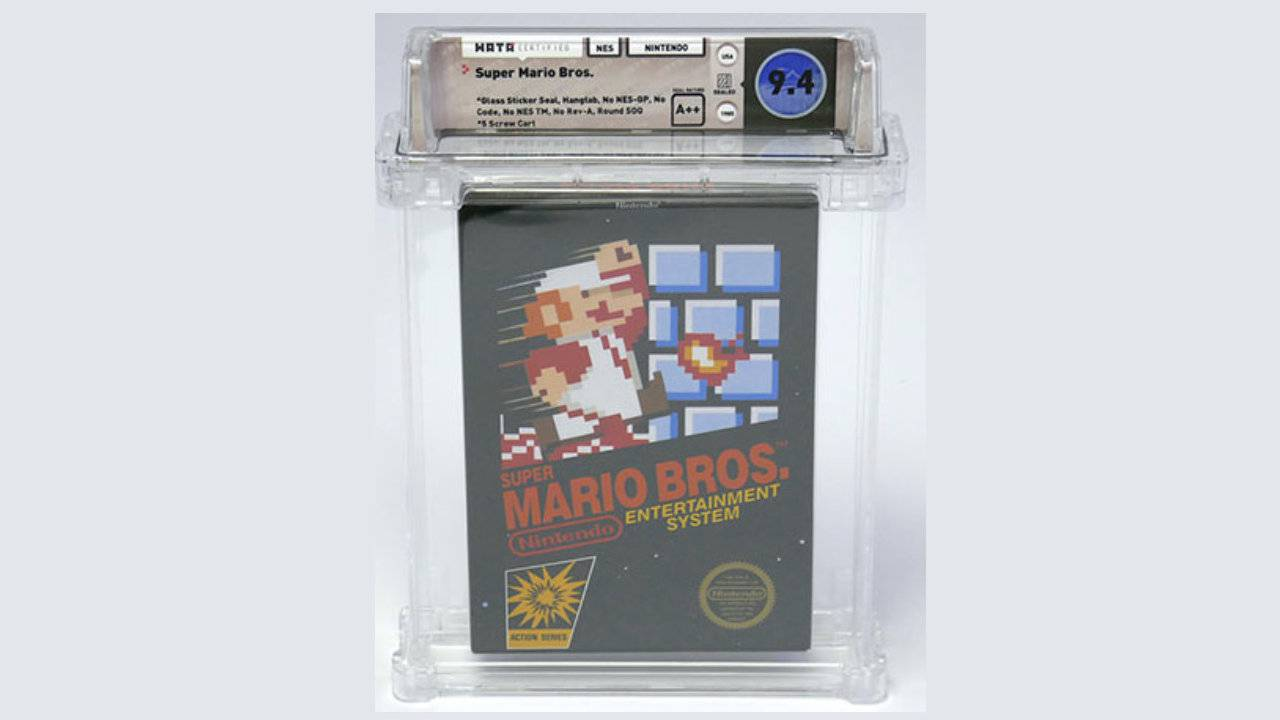 Extremely rare Super Mario Bros NES game sets new auction sale record