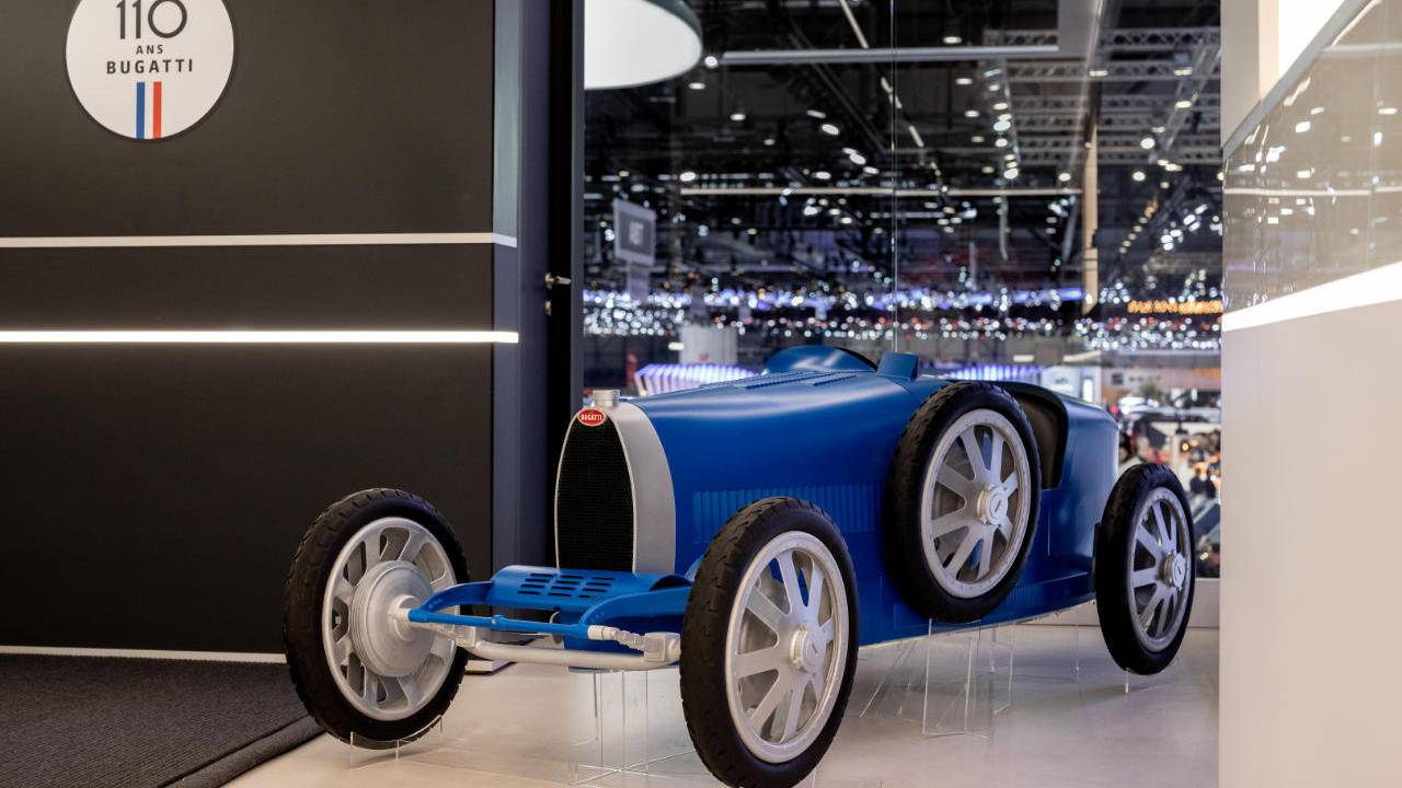 Bugatti Baby returns in a larger 3D-printed Type 35 body