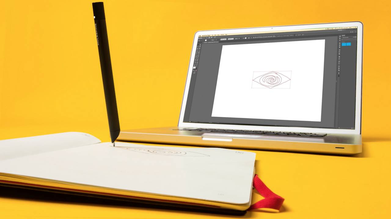 This Moleskine smart notebook syncs with Adobe Illustrator in real-time