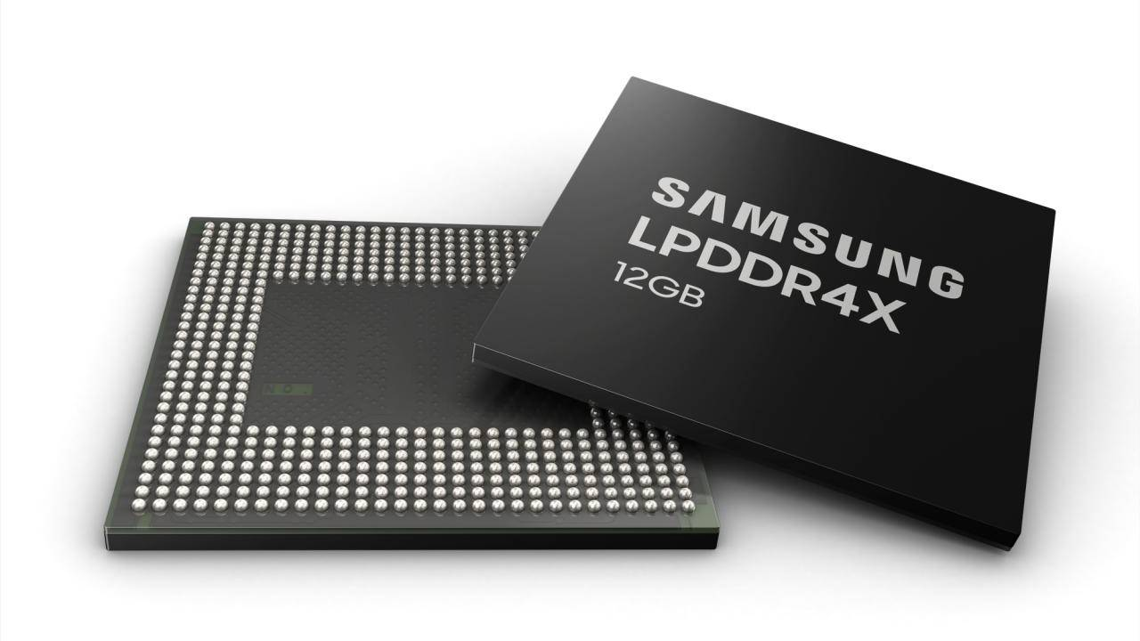 Samsung 12GB LPDDR4X RAM for phones begin mass production