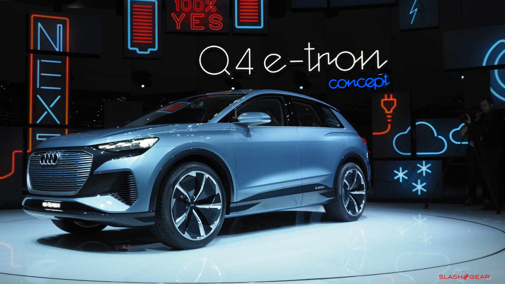 Audi E Tron >> Audi Q4 e-tron concept teases more affordable e-SUV for ...