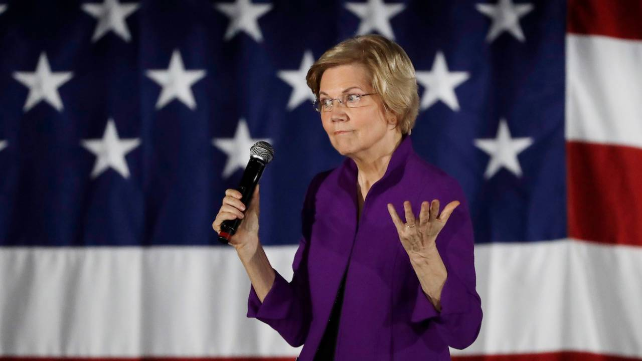 Elizabeth Warren's plans to break up tech giants get tepid response from San Francisco