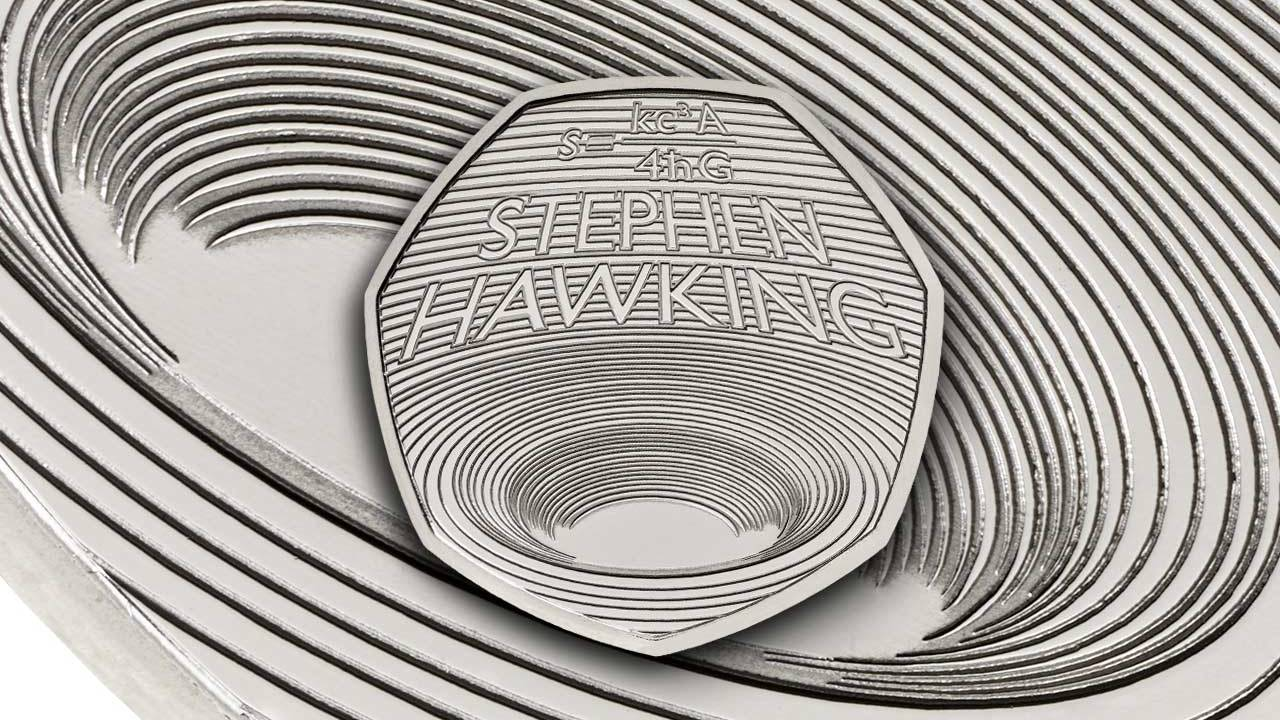 New 50p coin in UK is a Stephen Hawking black hole